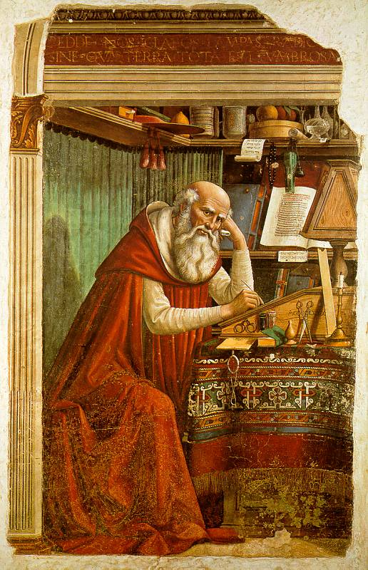 Domenico Ghirlandaio St Jerome in his study